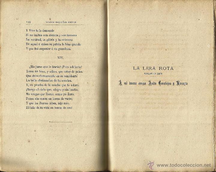 Libros antiguos: *NUEVOS PEQUEÑOS POEMAS Y DOLORAS* Ramón de Campoamor. Sevilla 1877. - Foto 2 - 54328127