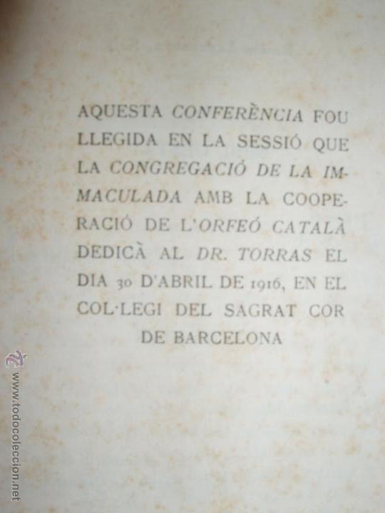 Libros antiguos: DR. JOSEP TORRAS I BAGES DE SANTA MEMORIA PER P. IGNASI CASANOVAS, S.J. 1916 - Foto 3 - 54374645
