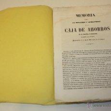 Libros antiguos - CURIOSA MEMORIA CAJA DE AHORROS DE LA PROVINCIA DE BARCELONA 1849 (FUNDADA EN 1844) - 54398233
