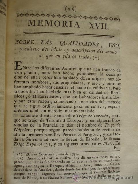 CUALIDADES USO Y CULTIVO DEL MAIZ. MADRID 1778 (Libros Antiguos, Raros y Curiosos - Ciencias, Manuales y Oficios - Otros)