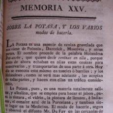Libros antiguos: SOBRE LA POTASA Y MODOS DE HACERLA .MADRID 1778. VETERINARIA. Lote 54404564