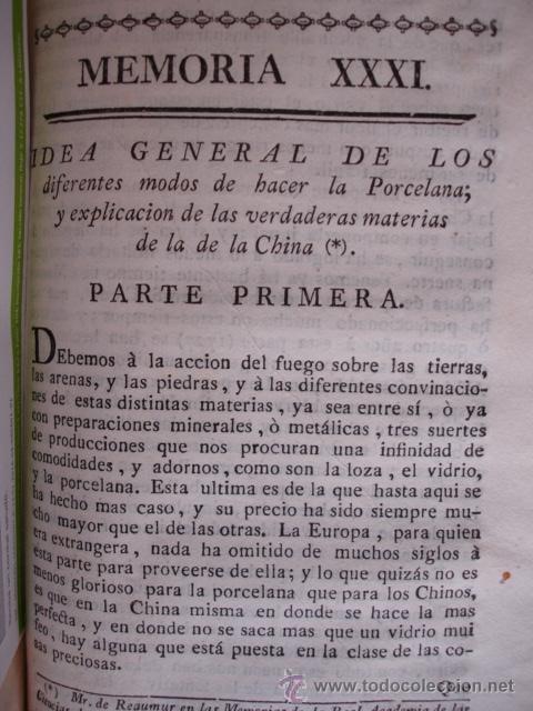 MODO DE HACER LA PORCELANA Y EXPLICACION DE LA DE LA CHINA REAUMUR ..MADRID 1778. CERAMICA (Libros Antiguos, Raros y Curiosos - Ciencias, Manuales y Oficios - Otros)