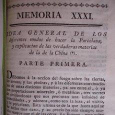 Libros antiguos: MODO DE HACER LA PORCELANA Y EXPLICACION DE LA DE LA CHINA REAUMUR ..MADRID 1778. CERAMICA. Lote 54405337