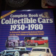 Libri antichi: COMPLETE BOOK OF COLLECTIBLE CARS 1930-1980. Lote 54413852