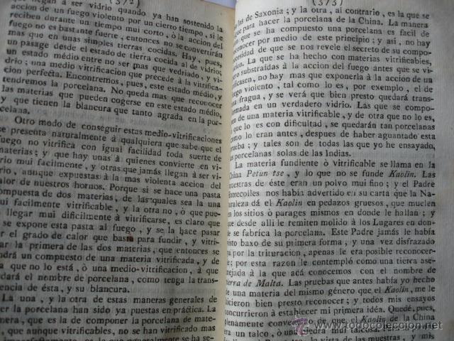Libros antiguos: MODO DE HACER LA PORCELANA Y EXPLICACION DE LA DE LA CHINA REAUMUR ..MADRID 1778. CERAMICA - Foto 3 - 54405337
