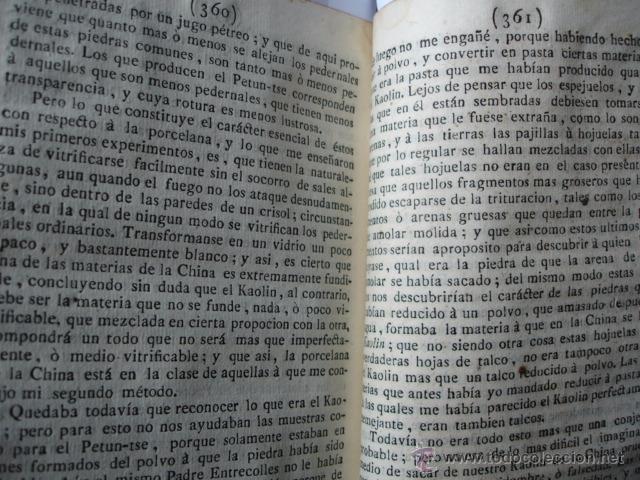 Libros antiguos: MODO DE HACER LA PORCELANA Y EXPLICACION DE LA DE LA CHINA REAUMUR ..MADRID 1778. CERAMICA - Foto 4 - 54405337