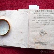 Libros antiguos: ELEMENTOS DE ARITMETICA NUMÉRICA Y LITERAL. M. POY COMES. IMPR. S. M. FRA. SURIÁ BURGADA. 1804 BARC. Lote 54473266