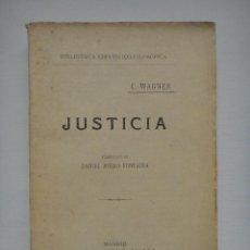 Libros antiguos: JUSTICIA, BIBLIOTECA CIENTÍFICO FILOSÓFICA; 1921. Lote 54487051