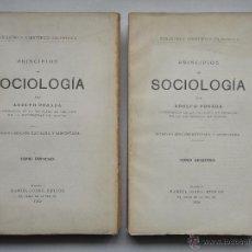 Libros antiguos: PRINCIPIOS DE SOCIOLOGÍA, OBRA COMPLETA EN 2 TOMOS. BIBLIOTECA CIENTÍFICO FILOSÓFICA; 1929. Lote 54489166