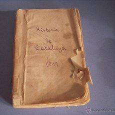 Libros antiguos: HISTORIA DE CATALUNYA PER ALFONS ROURE. VOLUM I. Lote 54500963