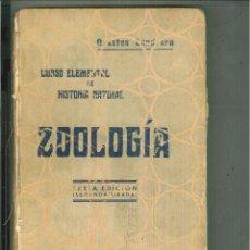 Libros antiguos: CURSO ELEMENTAL DE HISTORIA NATURAL ZOOLOGÍA. ORESTES CENDRERO. Lote 54530907