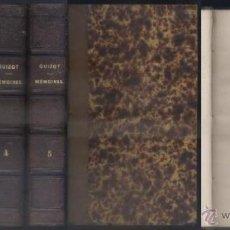 Libros antiguos: MEMOIRES POUR SERVIR A L'HISTOIRE DE MON TEMPS. 5 TOMOS. M. GUIZOT, PAR. A-H-724 . Lote 54561622
