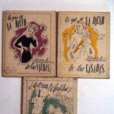 Libros antiguos: LO QUE SE HA DICHO DE LAS VIUDAS / DE LAS CASADAS / AMOR.. 3 VOL SELEC. DE PENSAMIENTOS. TARTESSOS. Lote 151870082