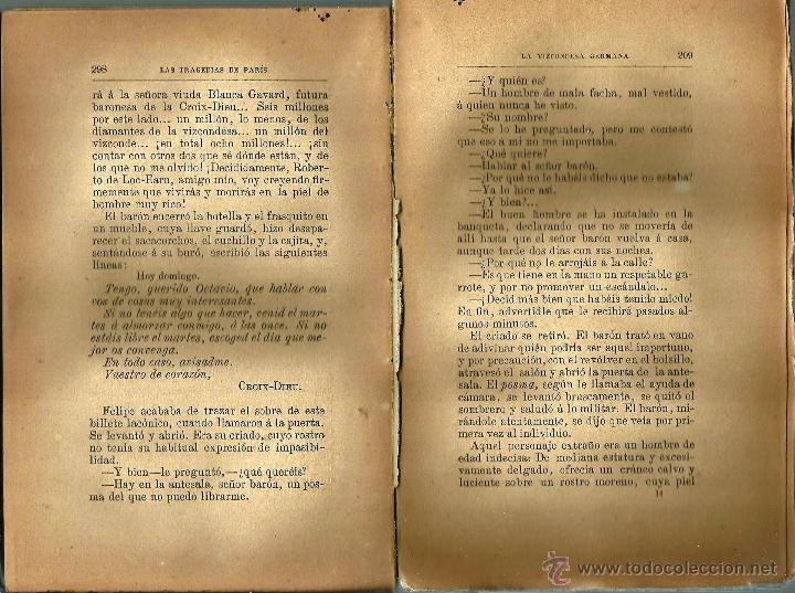 Libros antiguos: LIBRO *LA VIZCONDESA GERMANA* (LAS TRAGEDIAS DE PARÍS) 1886 de Xavier de Montepin. - Foto 4 - 54666241