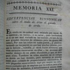 Libros antiguos: CRIAR GANADO DE CERDA.VETERINARIA .GANADERIA .1778.. Lote 54688660