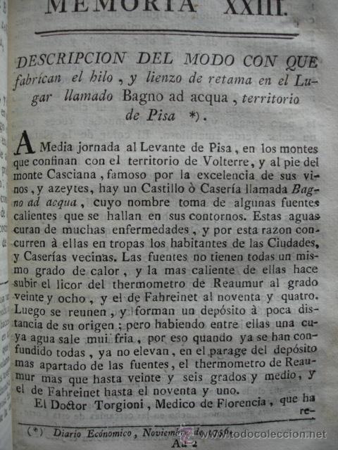 MODO DE FABRICAR HILO Y LIENZO .1778. (Libros Antiguos, Raros y Curiosos - Ciencias, Manuales y Oficios - Otros)