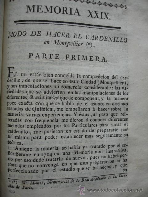 MODO DE HACER EL CARDENILLO .MONTET. .1778. (Libros Antiguos, Raros y Curiosos - Ciencias, Manuales y Oficios - Otros)