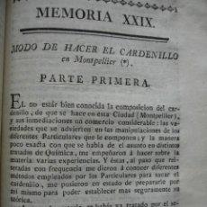 Libros antiguos: MODO DE HACER EL CARDENILLO .MONTET. .1778.. Lote 54688732