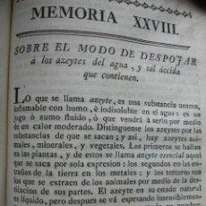 Libros antiguos: MODO DE DESPOJAR LOS ACEITES DEL AGUA Y SAL ACIDA. . .1778.. Lote 54688747