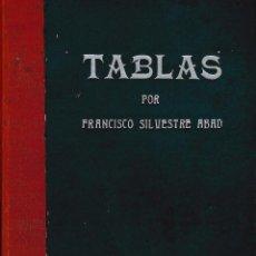 Libros antiguos: TABLAS PARA USO DE ... IMPRESORES, ENCUADERNADORES, LITÓGRAFOS ...- SILVESTRE ABAD, F.. Lote 54692699