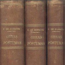 Libros antiguos: LEANDRO FERNÁNDEZ DE MORATÍN. OBRAS PÓSTUMAS. 3 VOLS. MADRID, 1867. S5. Lote 86070924