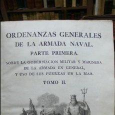 Libros antiguos: ORDENANZAS GENERALES DE LA ARMADA NAVAL. PARTE PRIMERA. TOMO II. [MAZARREDO, JOSÉ DE.] 1793. . Lote 54785533