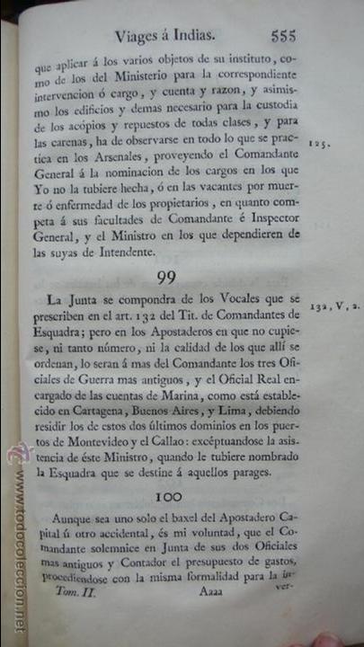 Libros antiguos: ORDENANZAS GENERALES DE LA ARMADA NAVAL. Parte primera. Tomo II. [MAZARREDO, José de.] 1793. - Foto 5 - 54785533