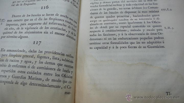 Libros antiguos: ORDENANZAS GENERALES DE LA ARMADA NAVAL. Parte primera. Tomo II. [MAZARREDO, José de.] 1793. - Foto 6 - 54785533