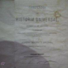 Libros antiguos: COMPENDIO DE HISTORIA UNIVERSAL DISTRIBUIDO EN LECCIONES, MORENO Y ESPINOSA, 1879. Lote 54787896