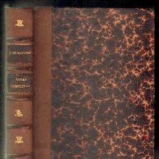 Libros antiguos: OBRAS COMPLETAS DEL CONDE JAVIER DE MAISTRE. A-LEXT-551. Lote 54788349