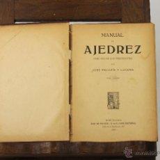 Libros antiguos: 7241 - MANUAL DE AJEDREZ. TOMOS I Y II(VER DESCRIP). J. PALUZÍE. EDI. H. DE PALUZÍE. 1923-27.. Lote 54647571