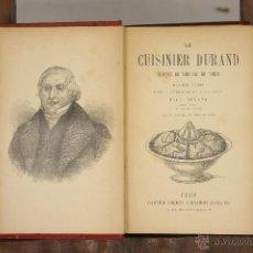 Libros antiguos: 6991 - LE CUISINER DURAND. C. DURAND. LIBR. GARNIER FRÈRES. S/F.. Lote 52361660