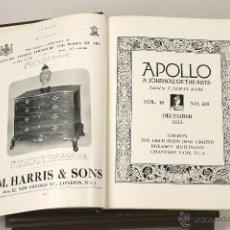 Libros antiguos: 7055 - APOLLO A JOURNAL OF THE ARTS. 7 EJEM. VV. AA.(VER DESCRIP). T. LEMAN HARE. 1933-36.. Lote 52576663