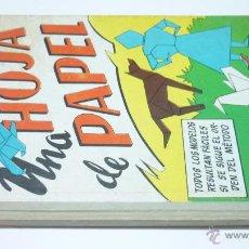 Libros antiguos: UNA HOJA DE PAPEL. TRABAJOS MANUALES SALVATELLA. LIBRO DE PAPIROFLEXIA. . Lote 54800361