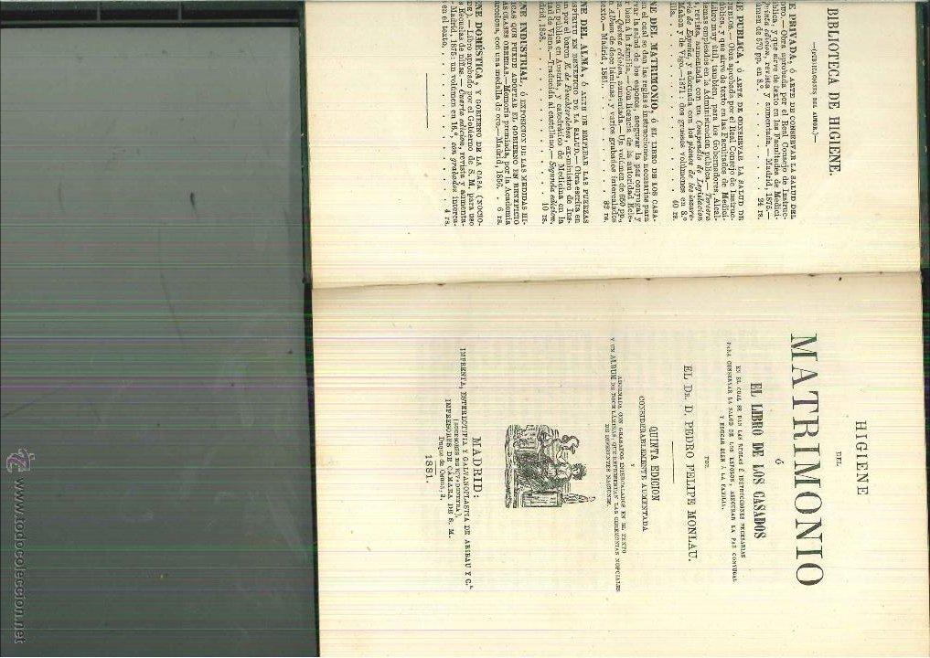 HIGIENE DEL MATRIMONIO O EL LIBRO DE LOS CASADOS. PEDRO FELIPE DE MOLNAU (Libros Antiguos, Raros y Curiosos - Ciencias, Manuales y Oficios - Otros)