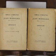 Libros antiguos: 5292- OBRAS COMPLETAS DE JOAN MARAGALL. EDIT. GUSTAVO GILI. 1922/1923. 11 TOMOS.. Lote 45531540