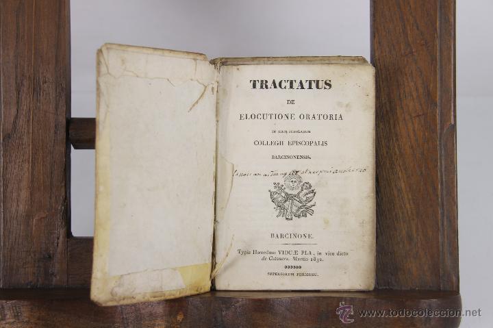 5457- TRACTATUS DE ELOCUTIONE ORATORIA. IMP. VIUDA DE PLA. 1832. (Libros antiguos (hasta 1936), raros y curiosos - Literatura - Narrativa - Otros)