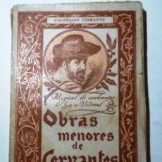 Libros antiguos: OBRAS MENORES DE CERVANTES. VOL II . VIAJE AL PARNASO. COLECCION DIAMANTE 95. Lote 54842286