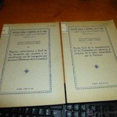 Libros antiguos: 2 PUBLICACIONES DE LA ASOCIACION GENERAL DE TRANSPORTES POR VIA FERREA, AÑO DE 1934. Lote 54859649