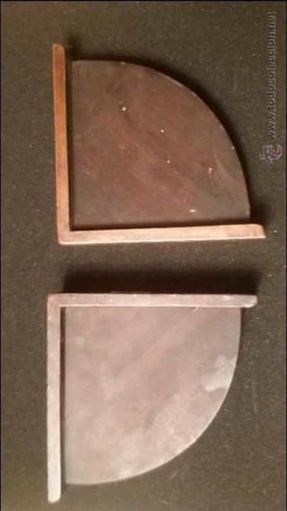 Libros antiguos: SUJETALIBROS APOYALIBROS MUY ANTIGUOS EN MADERA BRONCE PETO ARMADURA CORONA FLORES LIS SIGLO XV - Foto 5 - 54906768