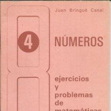 Libros antiguos: 8705- LIBRETA DE 8º-Nº 4-NUMEROS:EJERCICIOS MATEMATICAS. Lote 54931733
