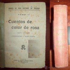 Libros antiguos: TRUEBA, ANTONIO DE. CUENTOS DE COLOR DE ROSA. Lote 54973841