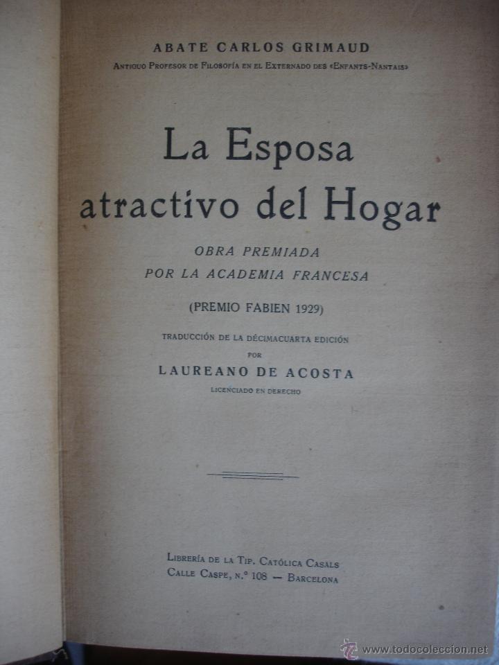 Libros antiguos: La esposa atractivo del hogar, - Foto 2 - 54977585