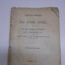 Libros antiguos: CALIGRAFIA : ARTE DE ESCRIBIR LA LETRA BASTARDA ESPAÑOLA POR J. F. ITURZAETA.MADRID 1876. 1 LAMINA. Lote 54978407