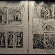 Libros antiguos: CATEDRAL SEVILLA ANTESALA CAPITULAR . JUAN BALAGUER. DOBLE PAGINA CON FOTOS REVISTA LA ESFERA 1916. Lote 55013112