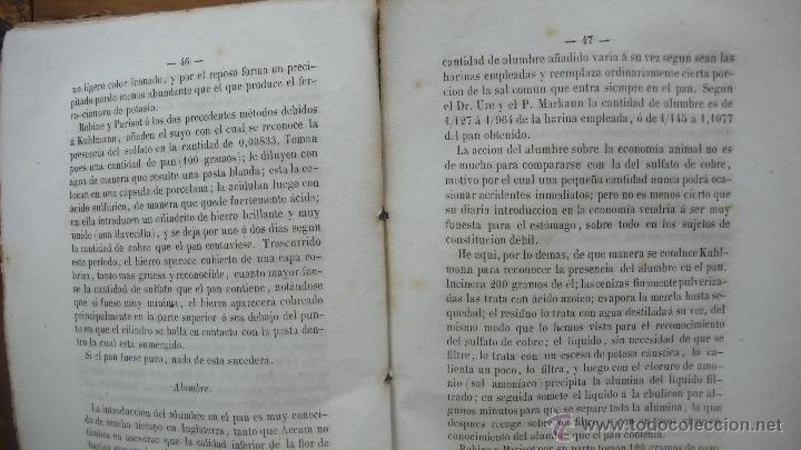 Libros antiguos: FALSIFICACIONES DE LAS SUSTANCIAS ALIMENTICIAS Y MEDIO DE RECONOCERLAS. J. GARNIER Y CH. HAREL. 1846 - Foto 4 - 55023274