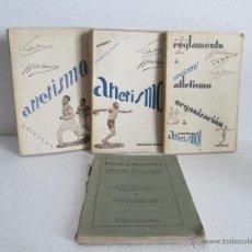 Libros antiguos: ATLETISMO! TRES LIBROS Y REGLAMENTOS DE LA FEDERACION INTERNACIONAL DE ATLETISMO AMATEUR. Lote 55061345