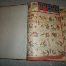 Libros antiguos: ENCUADERNACION DE 37 NÚMEROS CÓMICS ESPAÑOLES T.B.O. (BARCELONA). Lote 55078696