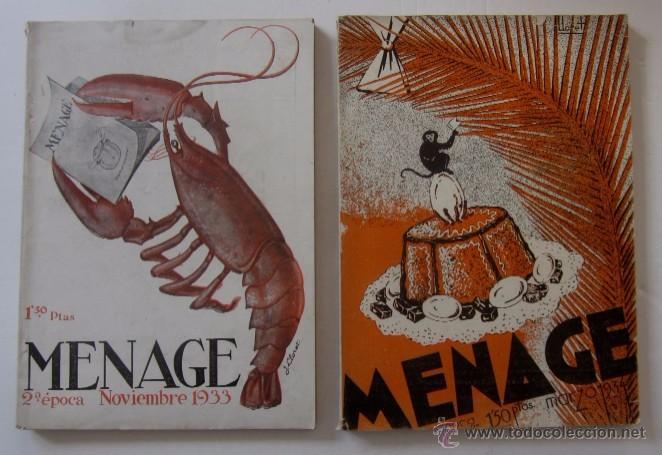 MENAGE: NOVIEMBRE DE 1933 Y MARZO DE 1934 (Libros Antiguos, Raros y Curiosos - Cocina y Gastronomía)