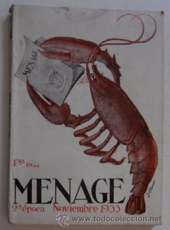 Libros antiguos: MENAGE: NOVIEMBRE DE 1933 Y MARZO DE 1934 - Foto 2 - 55080814
